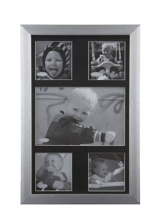KJ Collection Bilderrahmen Collage Aluminium/Glas 17 x 26cm - Pic 1
