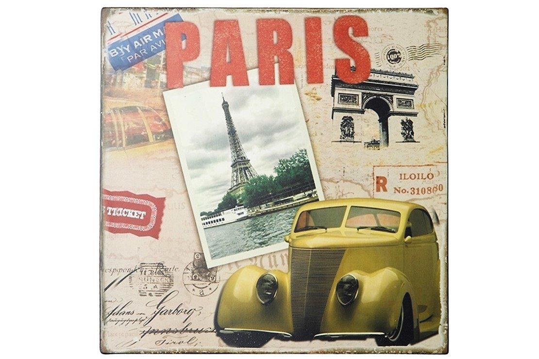KJ Collection Metallschild Paris 24 x 24cm - Pic 1