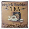 KJ Collection Metallschild Tea 24 x 24cm