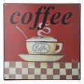 KJ Collection Metallschild Coffee 24 x 24cm