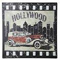 KJ Collection Metallschild Hollywood 24 x 24cm