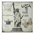 KJ Collection Metallschild USA 24 x 24cm