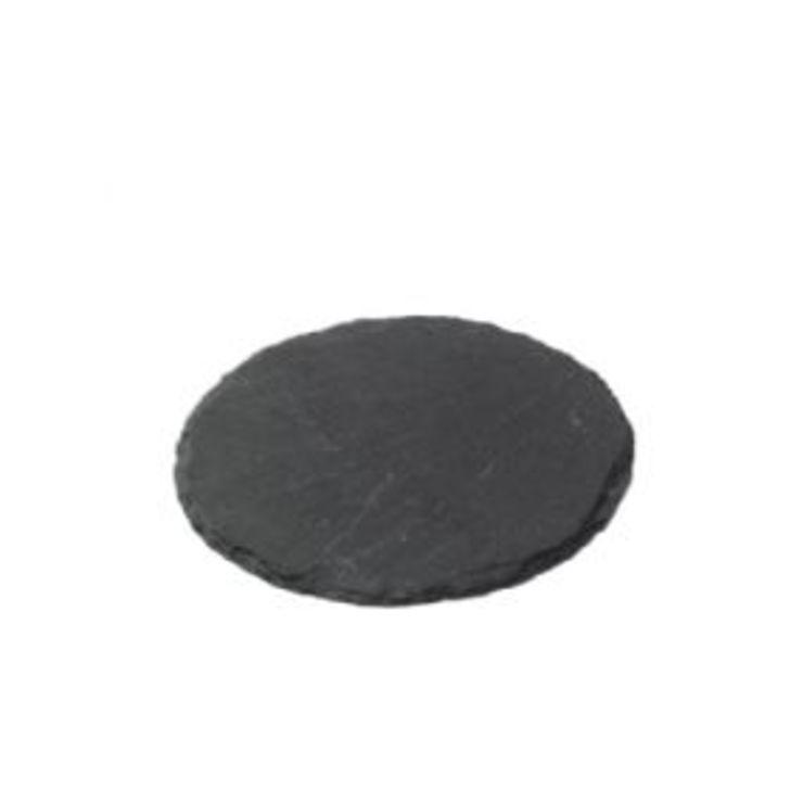 Broste Schieferplatte rund 12cm anthrazit - Pic 1