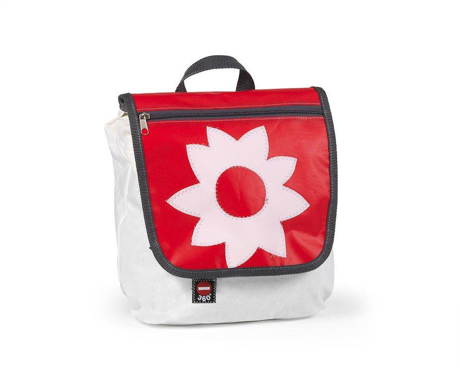 360 Grad Segeltuchtasche Kinderrucksack Blume rote - Pic 1