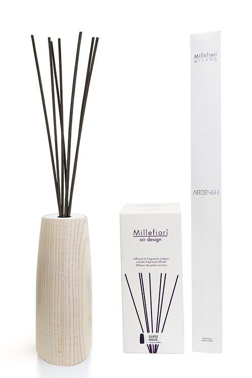 Millefiori Diffuser Wood Air Design rund ohne Raumduft weiß 250ml - Pic 1