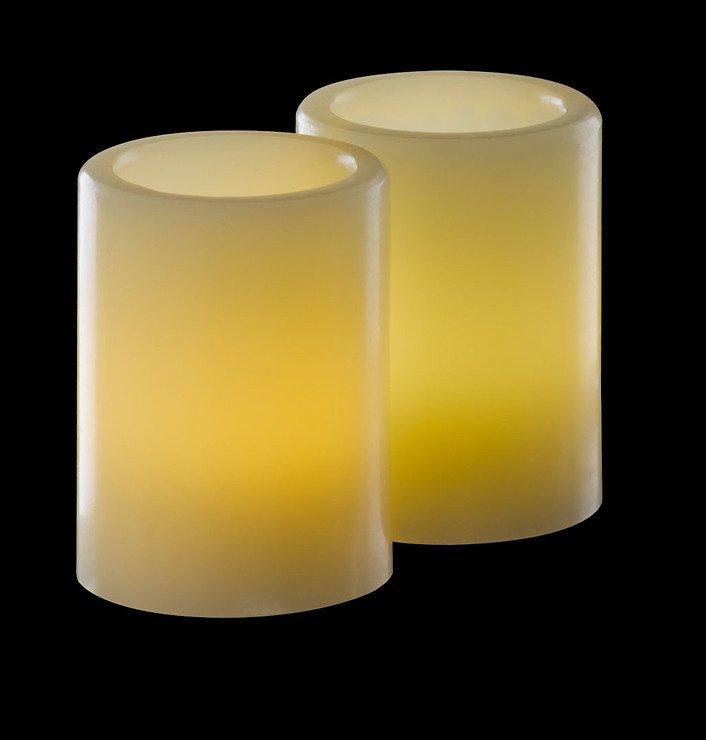 Sirius LED Echtwachskerze Vita 2er Set 5 x 6,50 cm elfenbein - Pic 1