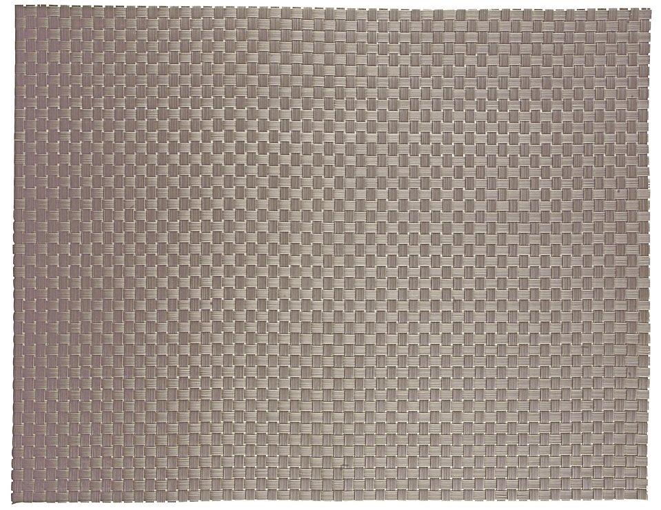 Zone Tischset Kunststoff geflochten silber - Pic 1