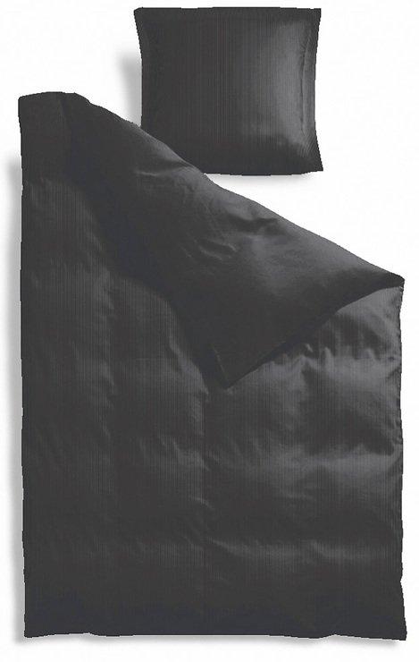 Zone Bettwäsche Comfetti 140x200cm / 60x63cm schwarz - Pic 1