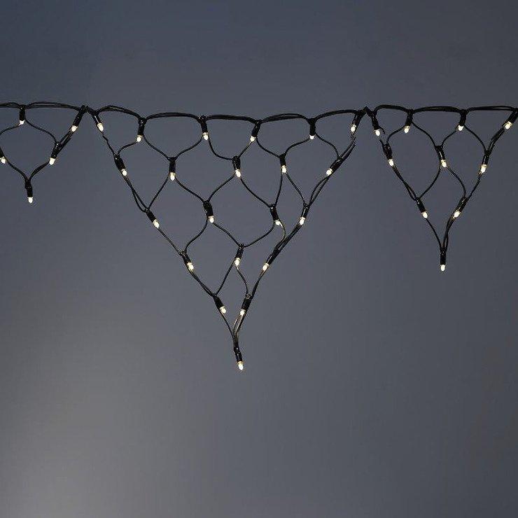 Sirius Lichtervorhang tech-line Eiszapfen 105 LED warmweiß 230V 2,5 x 0,6m schwarz - Pic 1