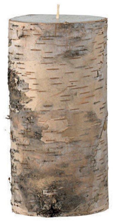 Broste Stumpenkerze in Echtholz Birkenrinde 7,5cm h15cm - Pic 1