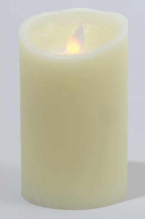 Kaemingk Flackerkerze LED elfenbein Tropfen D 9 x H 17,5 cm - Pic 1