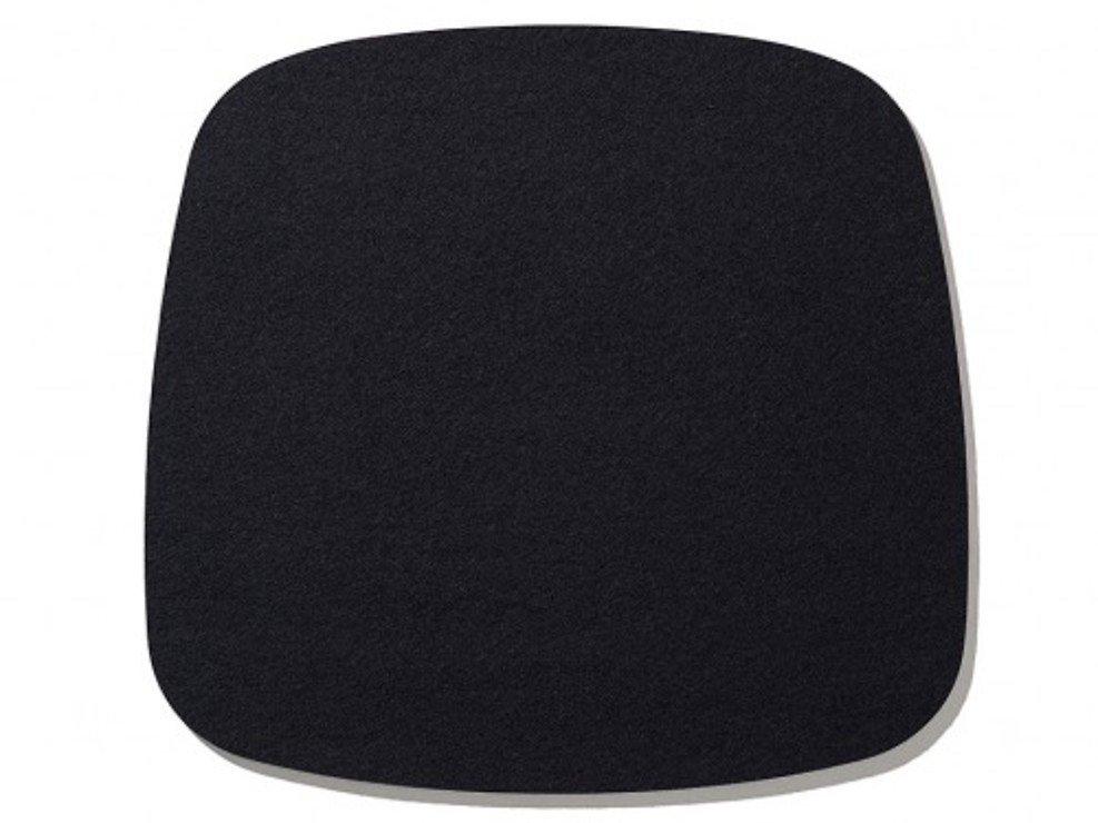 Hey-Sign Sitzauflage Eames Plastic Armchair Antirutsch Filz schwarz - Pic 1