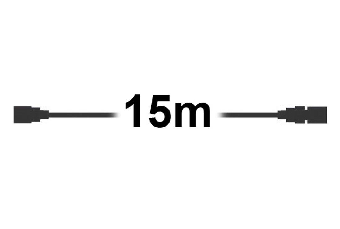 Sirius Lichterketten Tech-Line Verlängerung 15m 230V schwarz - Pic 1