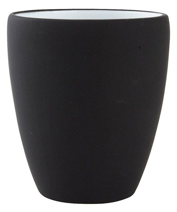 Zone Zahnputzbecher Confetti 7,5 x 9cm schwarz matt - Pic 1