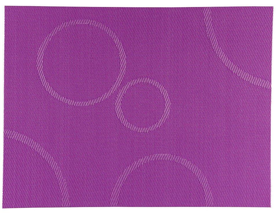 Zone Tischset Confetti mit Kreisen lila 30 x 40cm - Pic 1