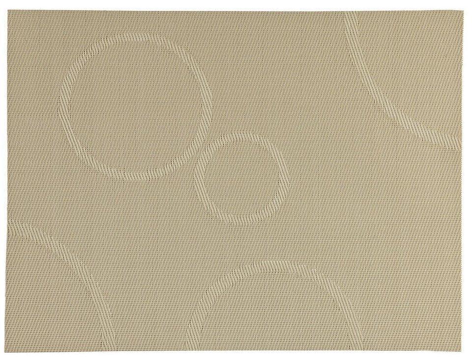 Zone Tischset Confetti mit Kreisen beige 30 x 40cm - Pic 1
