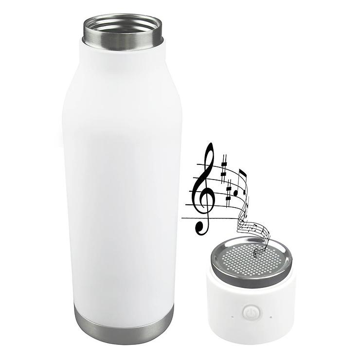 Asobu Thermosflasche Wireless mit Lautsprecher 500ml weiß - Pic 1