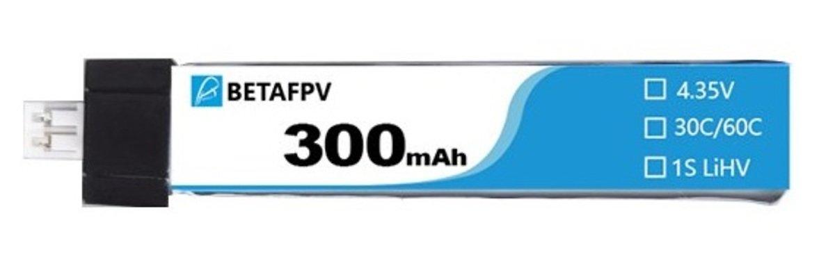 BETAFPV LiPo 300mAh 30C 3.8V JST-PH 2.0 Batterie für FPV Drohnen Copter - Pic 1