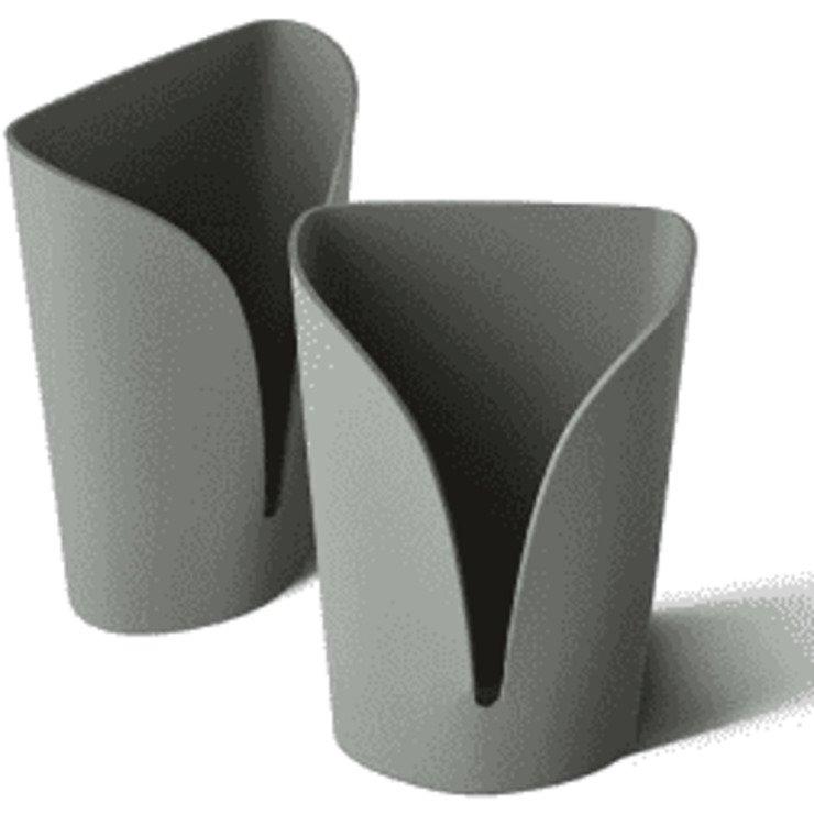Zone Metallhaken Confetti 2er Set grau - Pic 1