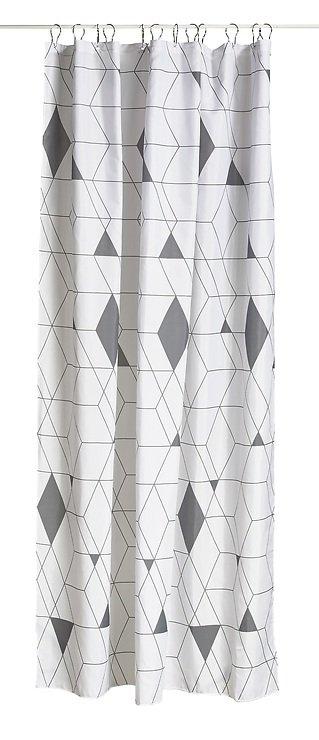 Zone Duschvorhang Harlequin Polyester 2 x 1,8 m grau - Pic 1