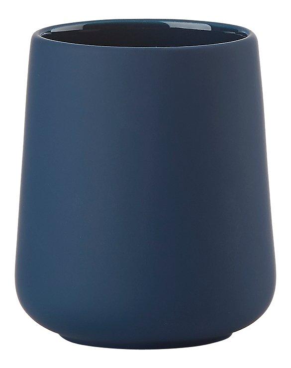 Zone Zahnputzbecher Nova One Keramik Soft Touch blau matt - Pic 1
