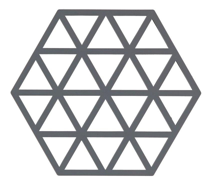 Zone Topfuntersetzer Hexagon Dreiecke 16 x 14 cm Silikon grau - Pic 1