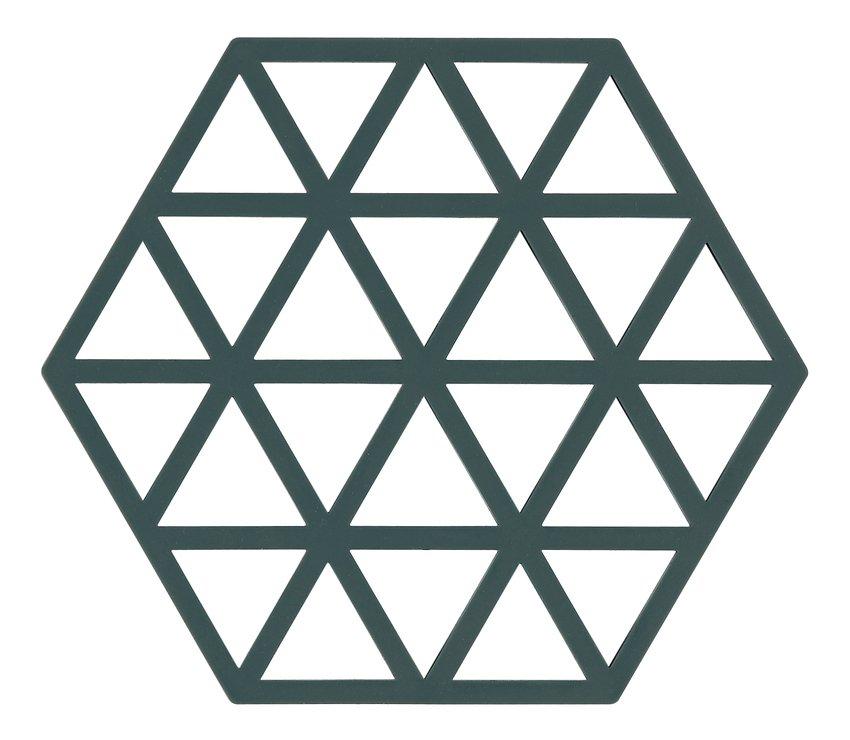 Zone Topfuntersetzer Hexagon Dreiecke 16 x 14 cm Silikon grün - Pic 1