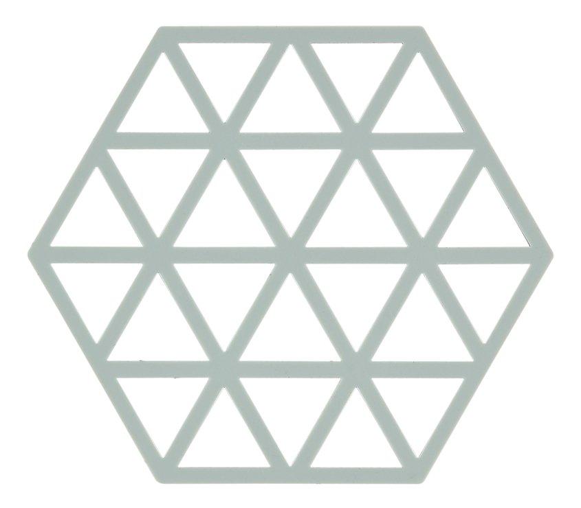 Zone Topfuntersetzer Hexagon Dreiecke 16 x 14 cm Silikon hellgrün - Pic 1