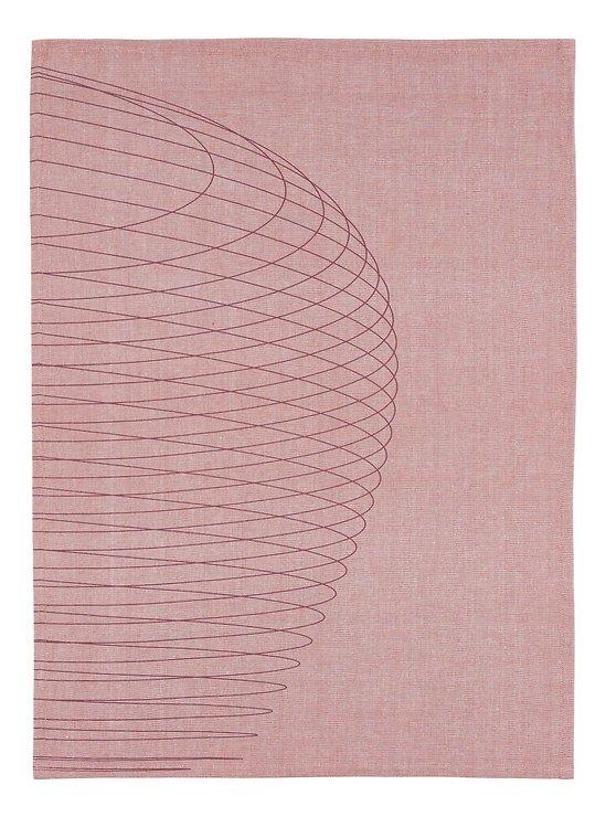 Zone Geschirrtuch Dry Art Circles 70 x 50 cm hellrot - Pic 1