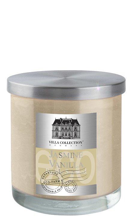 Villa Collection Duftkerze creme Jasmin Vanille, im Glas mit Metalldeckel, 9 x 10cm - Pic 1