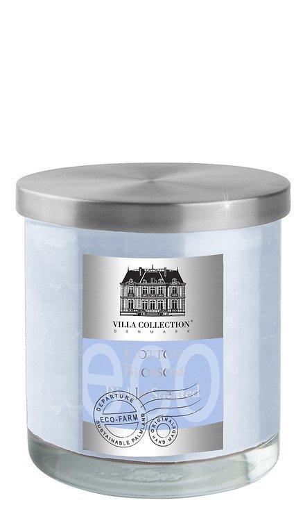 Villa Collection Duftkerze hellblau Baumwollblüte, im Glas mit Metalldeckel, 9 x 10cm - Pic 1