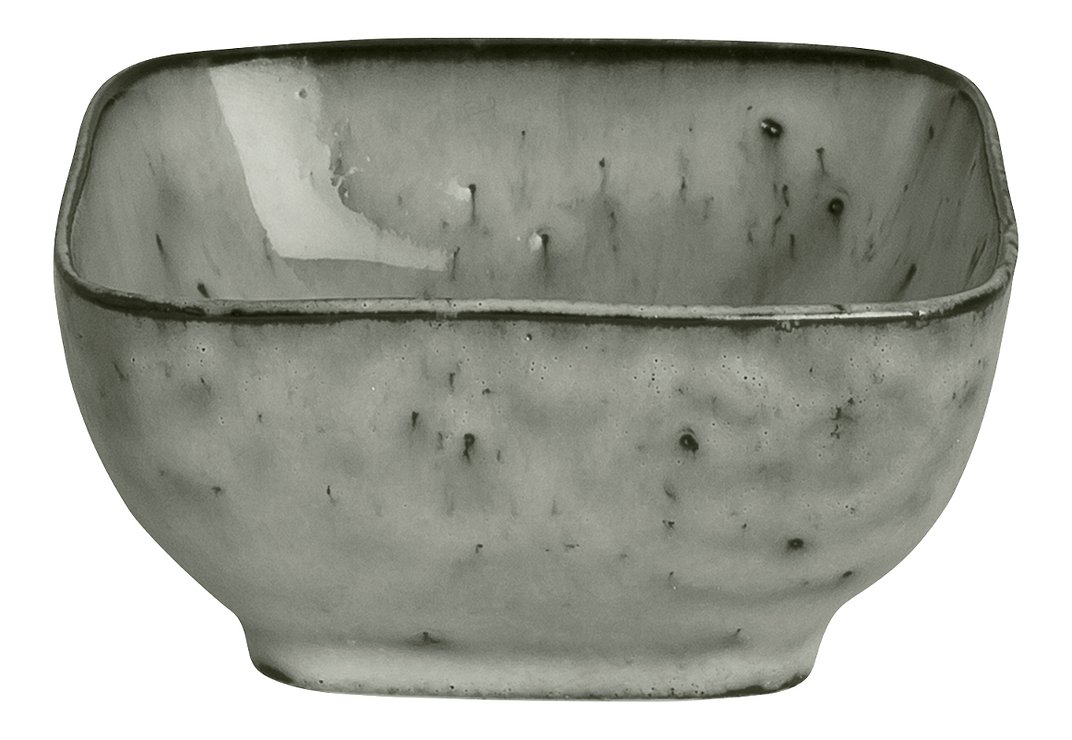 Broste Dipschale eckig Nordic Sea 8 x 4 cm Keramik grau - Pic 1