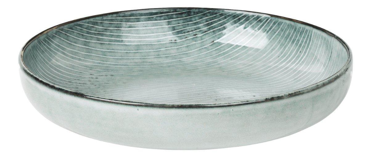 Broste Schüssel flach Nordic Sea 22,5 x 4,8 cm Keramik grau - Pic 1