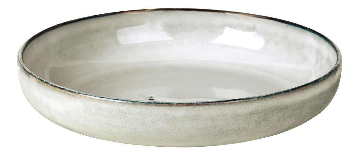 Broste Schüssel flach Nordic Sand 22,5 x 4,8 cm Keramik sand - Pic 1