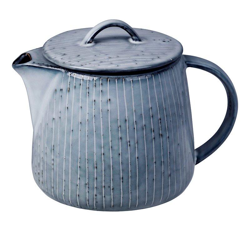 Broste Teekanne Nordic Sea 1 Liter Keramik grau - Pic 1