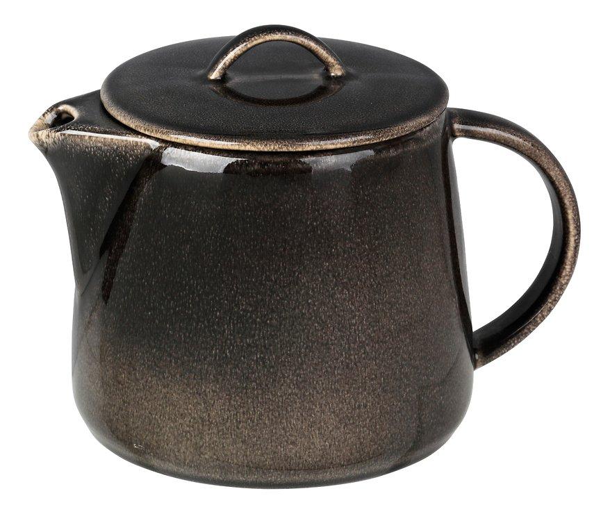 Broste Teekanne Nordic Coal 1 Liter Keramik Charcoal - Pic 1