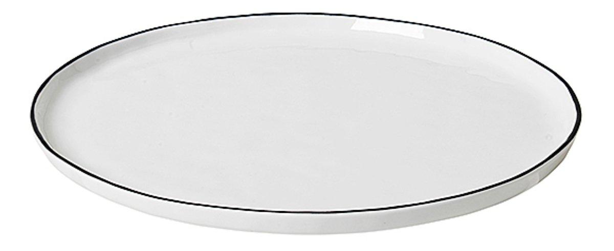 Broste Speiseteller Salt 28 cm Porzellan weiß schwarz - Pic 1