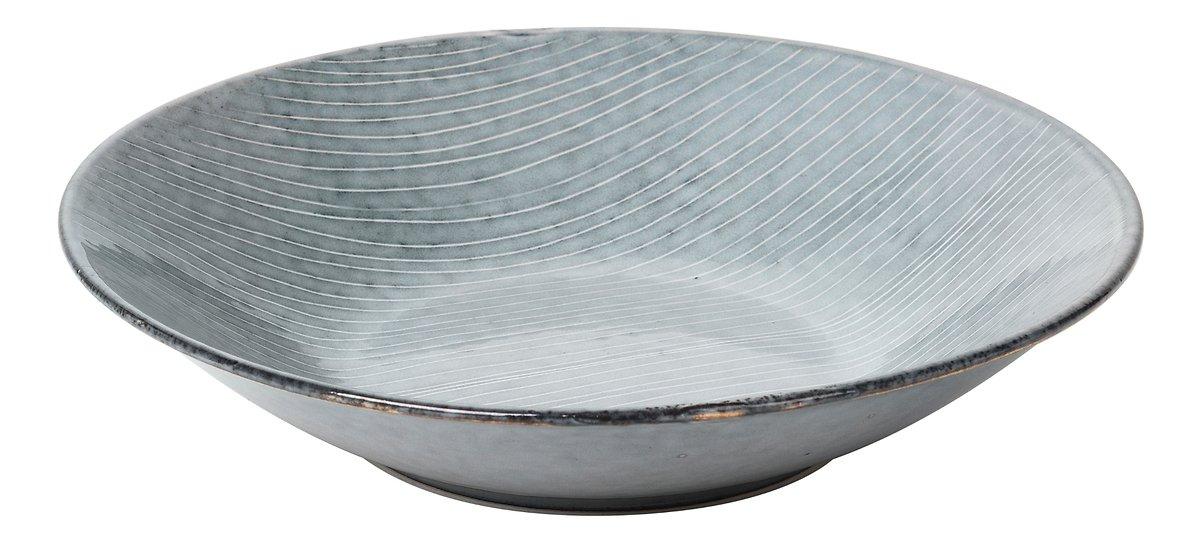 Broste Suppenteller Nordic Sea 22,5 x 5 cm Keramik grau - Pic 1