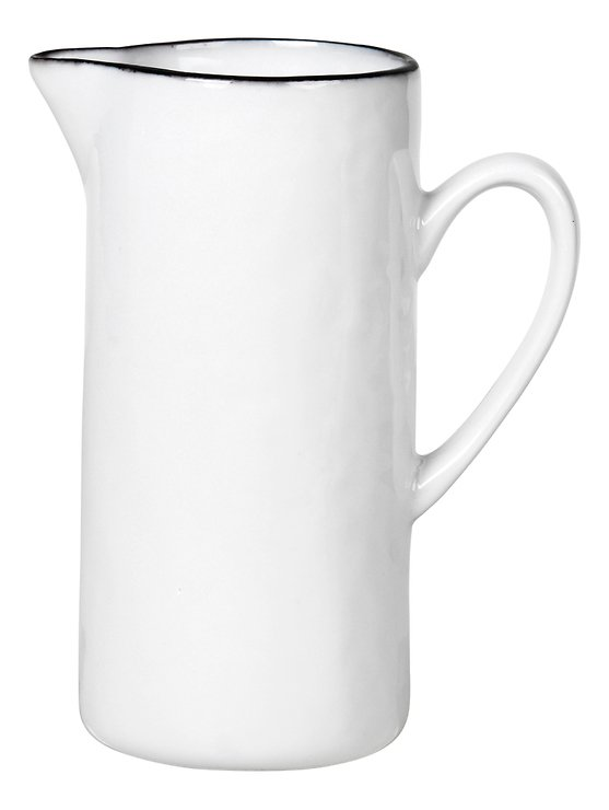 Broste Milchkännchen Salt 400 ml Porzellan weiß schwarz - Pic 1