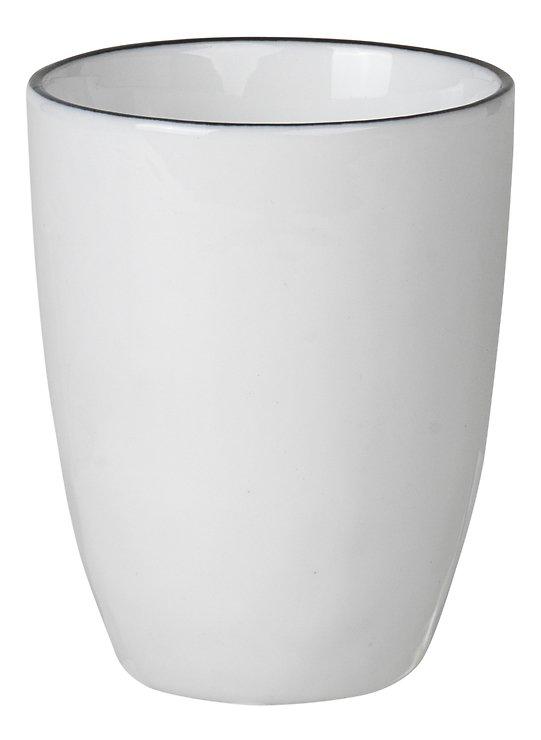 Broste Espressobecher Salt 100 ml Porzellan weiß schwarz - Pic 1