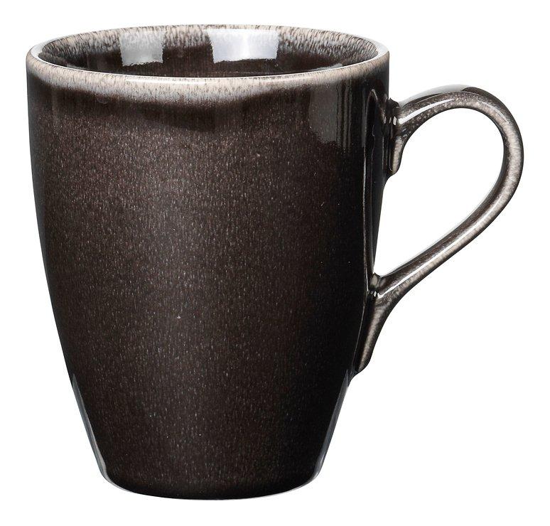 Broste Henkelbecher groß Nordic Coal 400ml Keramik Charcoal - Pic 1