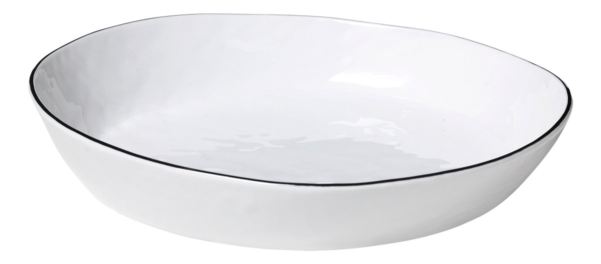 Broste Schüssel Salt 24 cm Keramik weiß - Pic 1