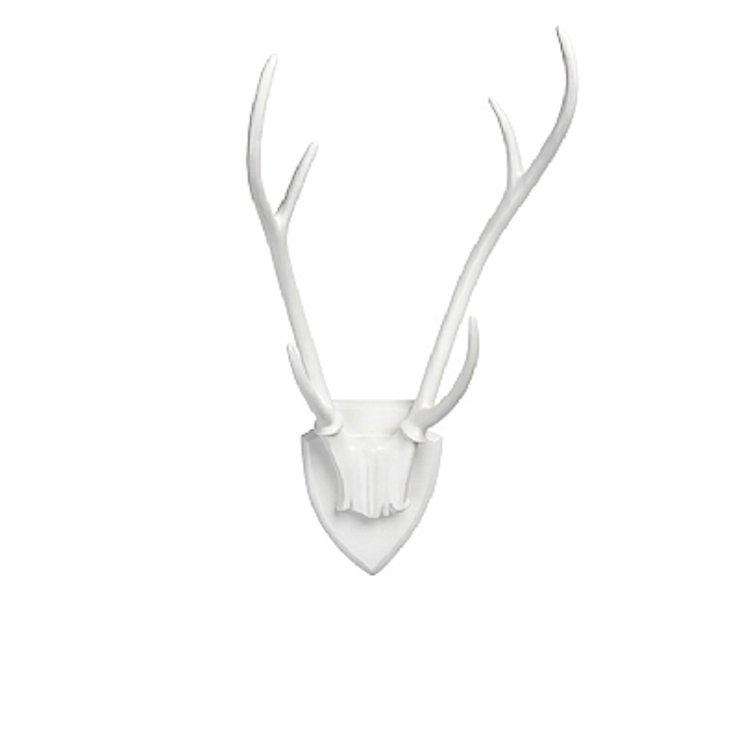 Broste Dekogeweih Lyn aus Polyresin weiß 30 x 56cm - Pic 1