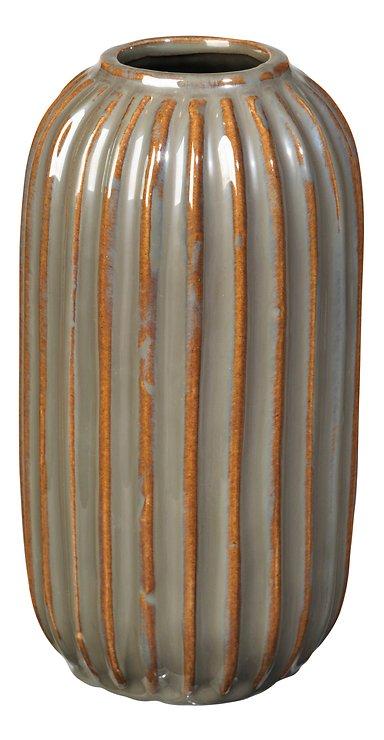 Broste Vase Lines Keramik grün 20 cm - Pic 1