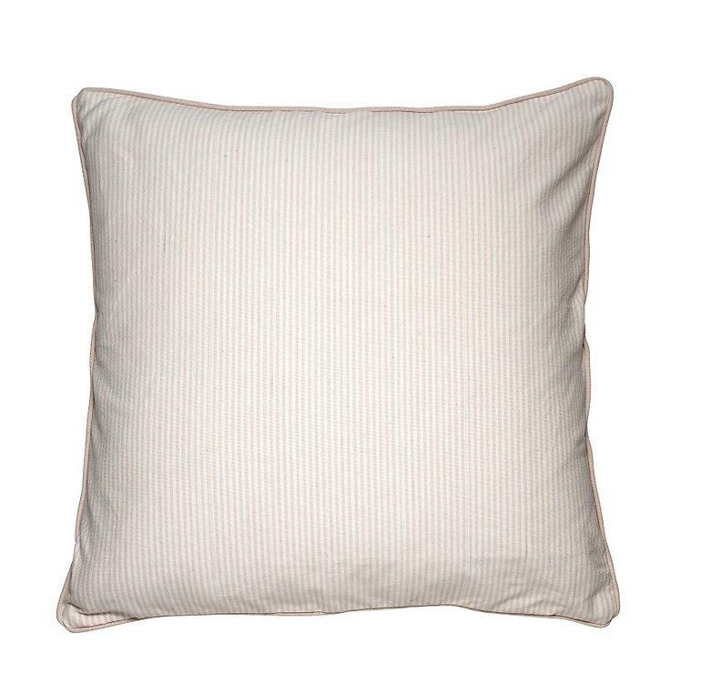 Cozy Living Dekokissen Baumwolle gestreift Pearl 60 x 60cm - Pic 1