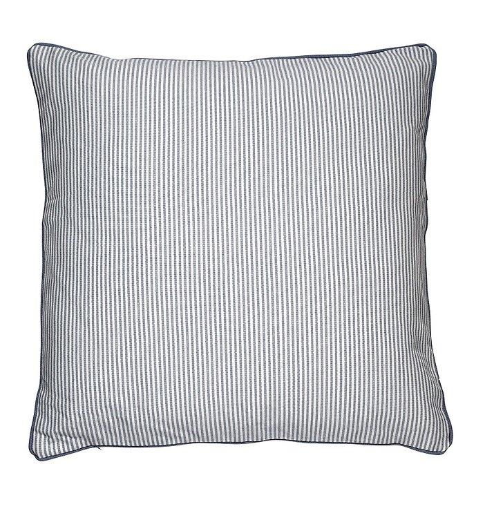 Cozy Living Dekokissen Baumwolle gestreift blau 60 x 60cm - Pic 1