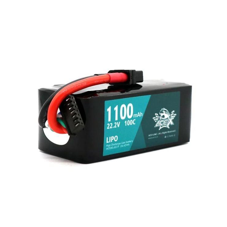 Acehe ACE-X Batterie LiPo Akku 1100mAh 6S 100C - Pic 1