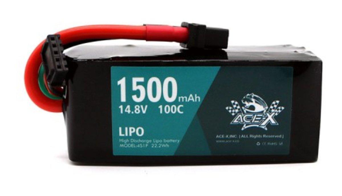 Acehe ACE-X Batterie LiPo Akku 1500mAh 4S 100C - Pic 1