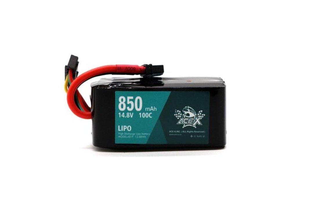 Acehe ACE-X Batterie LiPo Akku 850mAh 4S 100C - Pic 1