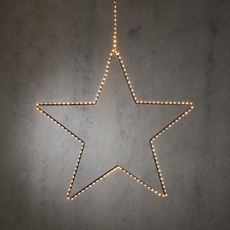 Edelman LED Leuchtstern Outdoor 38cm 140 LED warmweiß - Pic 1